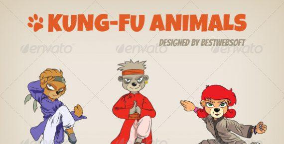 570x290 Kung Fu Animals Vector Characters Bestwebsoft