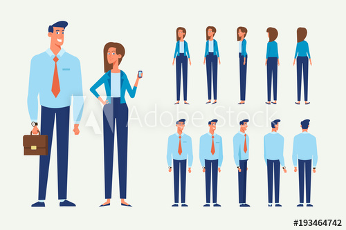 500x333 Vector Character Set For Animation. Business People