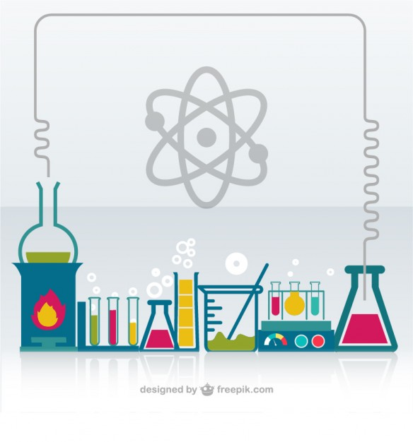 584x626 Chemistry Laboratory Vector Free Download