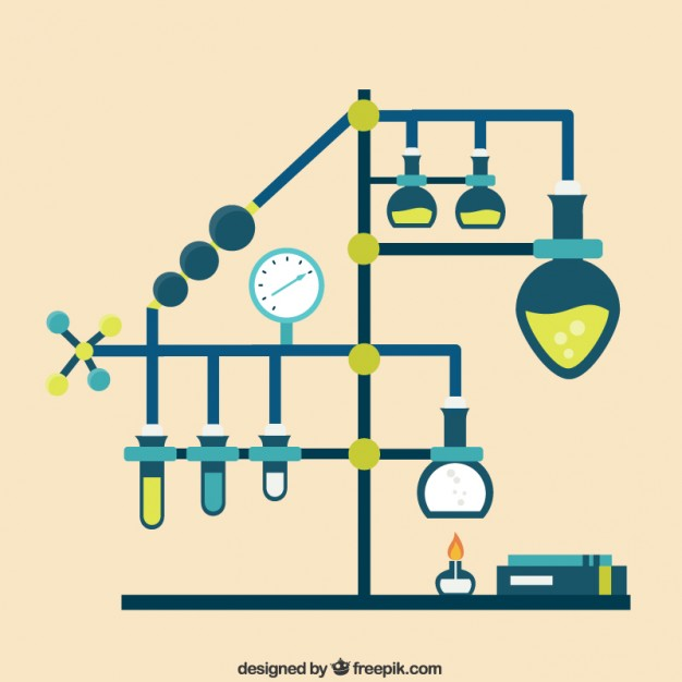 626x626 Chemistry Laboratory Infographic Vector Free Download