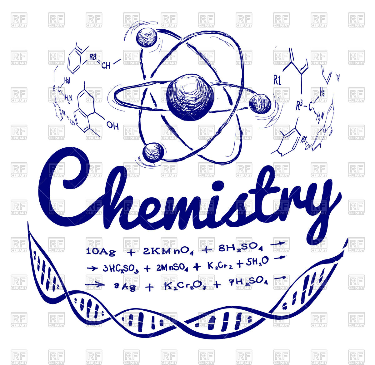 1200x1169 Hand Drawn Chemistry Background Vector Image Vector Artwork Of