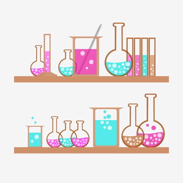 600x600 Painted Chemistry Experiment Containers Vector Graphics My Free