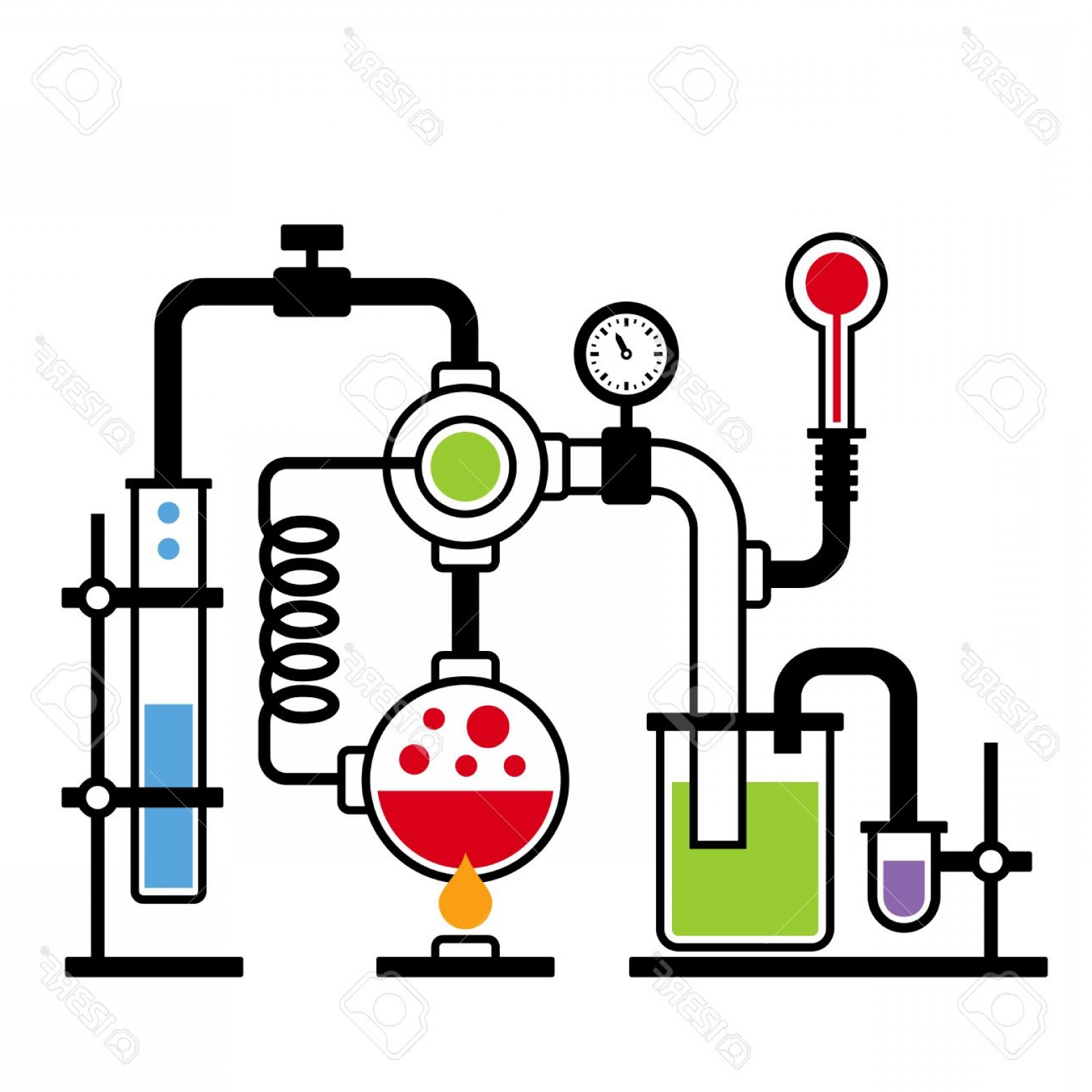 1560x1560 Photostock Vector Chemistry Laboratory Infographic With Some