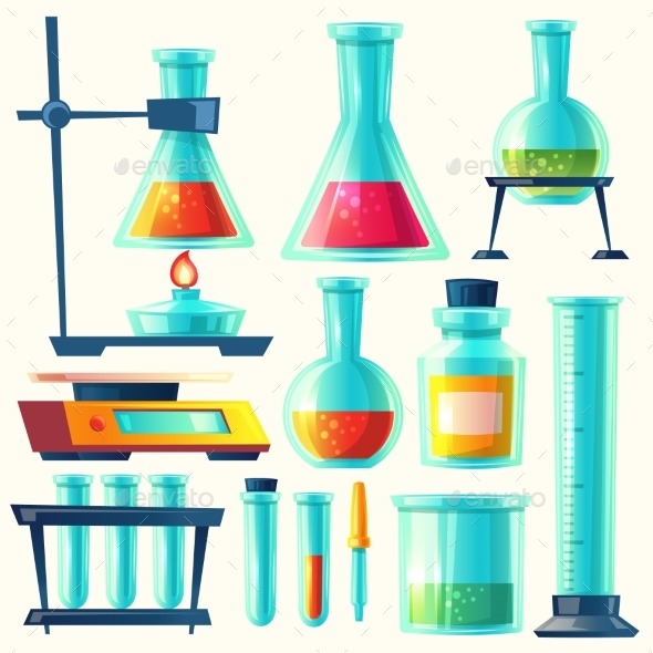 590x590 Vector Chemical Equipment For Experiment By Vectorpocket
