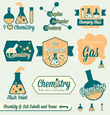 380x400 Vintage Chemistry Class Labels And Icons Vector By Jamesdaniels On