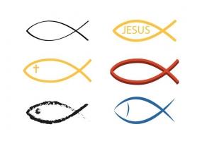 285x200 Christian Fish Symbols Free Vector Graphic Art Free Download