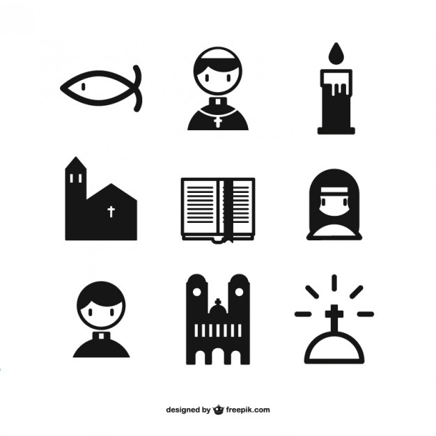 626x626 Christian Icons Collection Vector Free Download