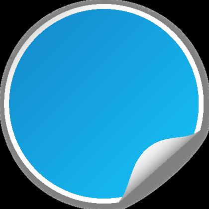 420x420 Circle Seal Light Blue Svg(Vector)public Domain Icon Park