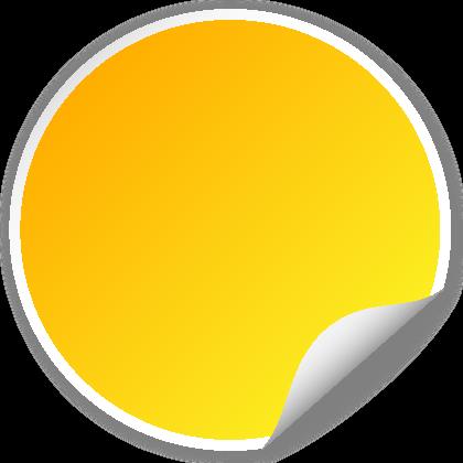 420x420 Circle Seal Yellow Svg(Vector)public Domain Icon Park Share