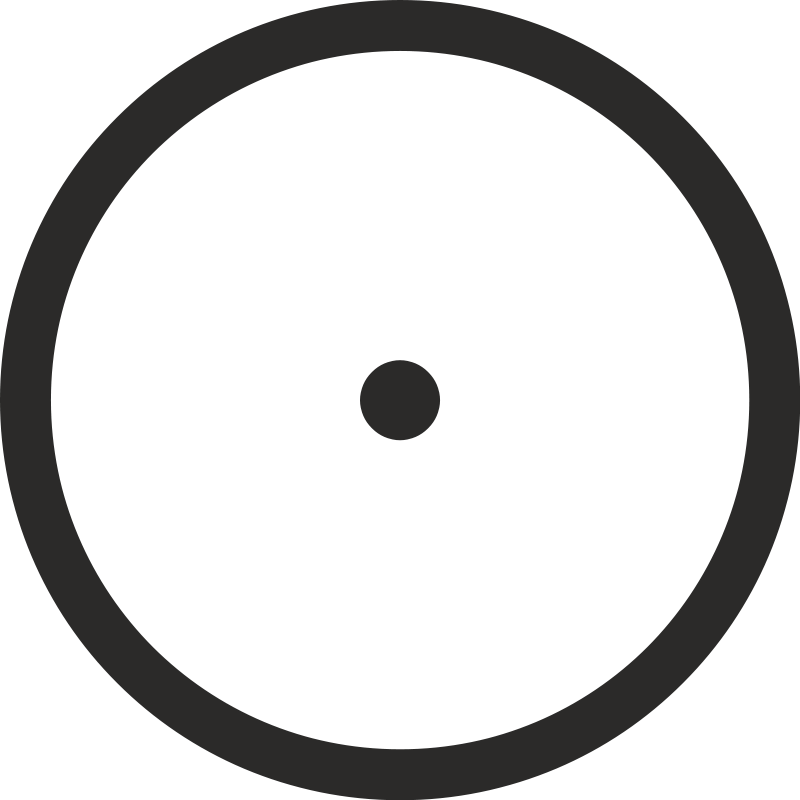 800x800 Circle With Central Point Free Vector 4vector