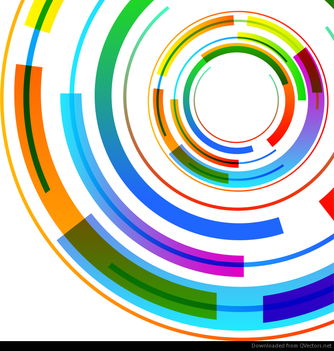 676x710 Abstract Technology Circles Vector Background