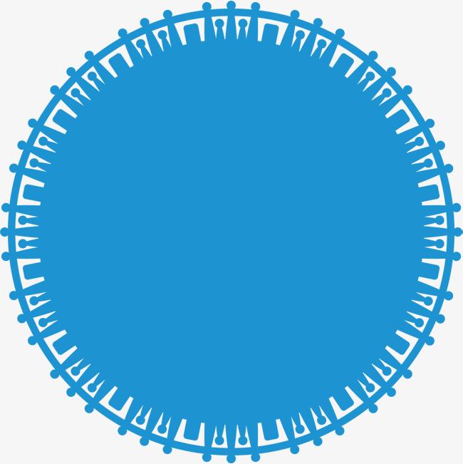 650x651 Blue Circle, Vector Circle, Circle Material, Circle Elements Png
