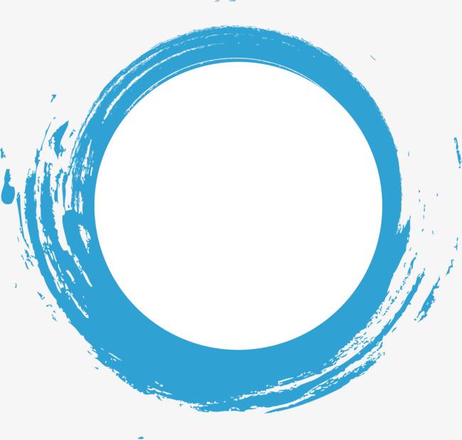 650x619 Blue Watercolor Dashed Circle Creative, Creative Dashed Circle