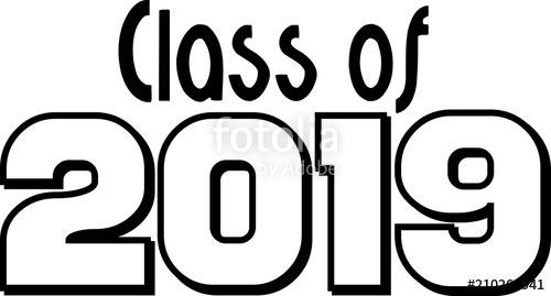 500x269 Class Of 2019 Block Letters Stock Image And Royalty Free Vector