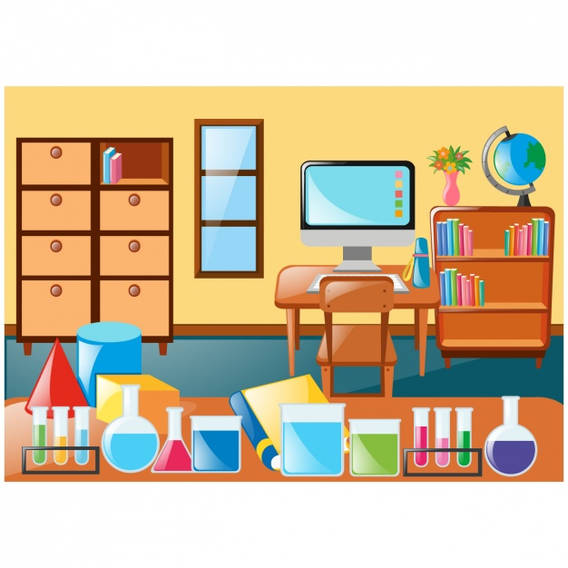 626x626 Class Scene With Furniture And Accessories Vector Free Download