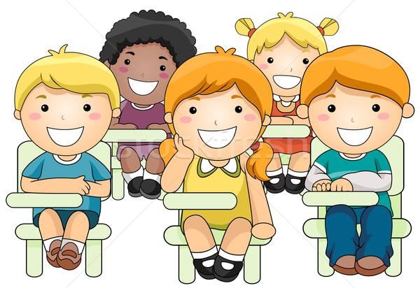 600x412 Kids Attending Class Vector Illustration Lenm ( 506443) Stockfresh