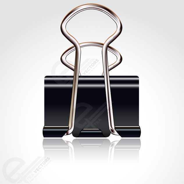 633x633 Free Vector Black Paper Binder Clip Free