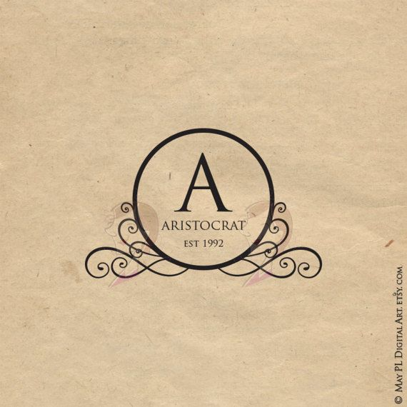 570x570 Monogram Clip Art Elegant