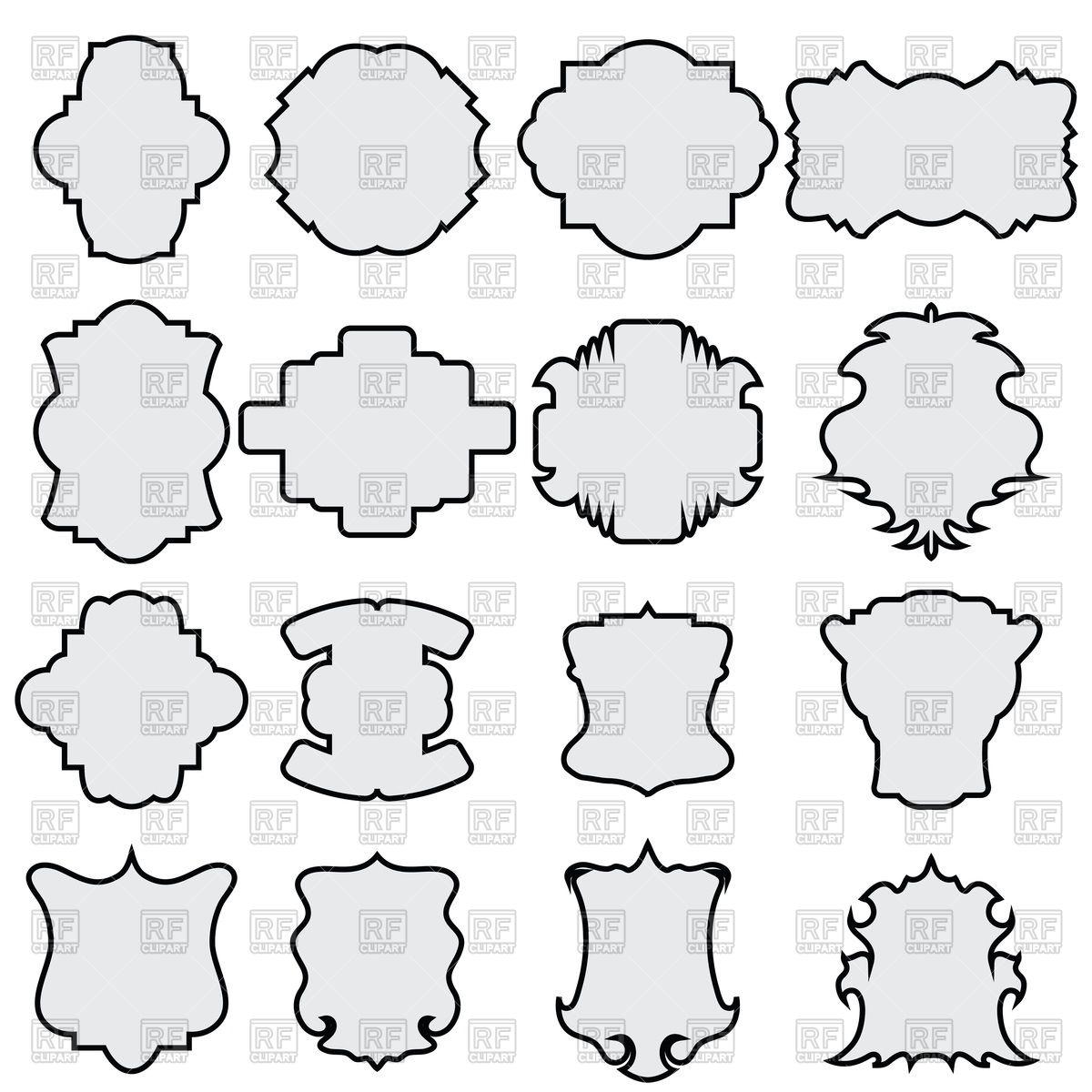 1200x1200 Decorative Different Shapes Frames Vector Image Vector Artwork