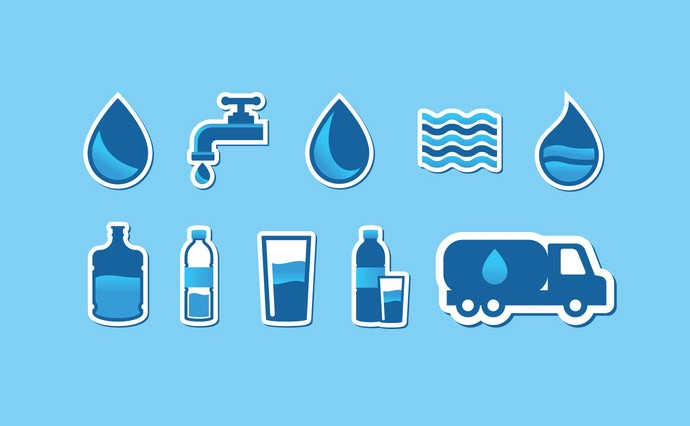 690x426 Free Water Vector Clipart. Aqua Logos And Icons