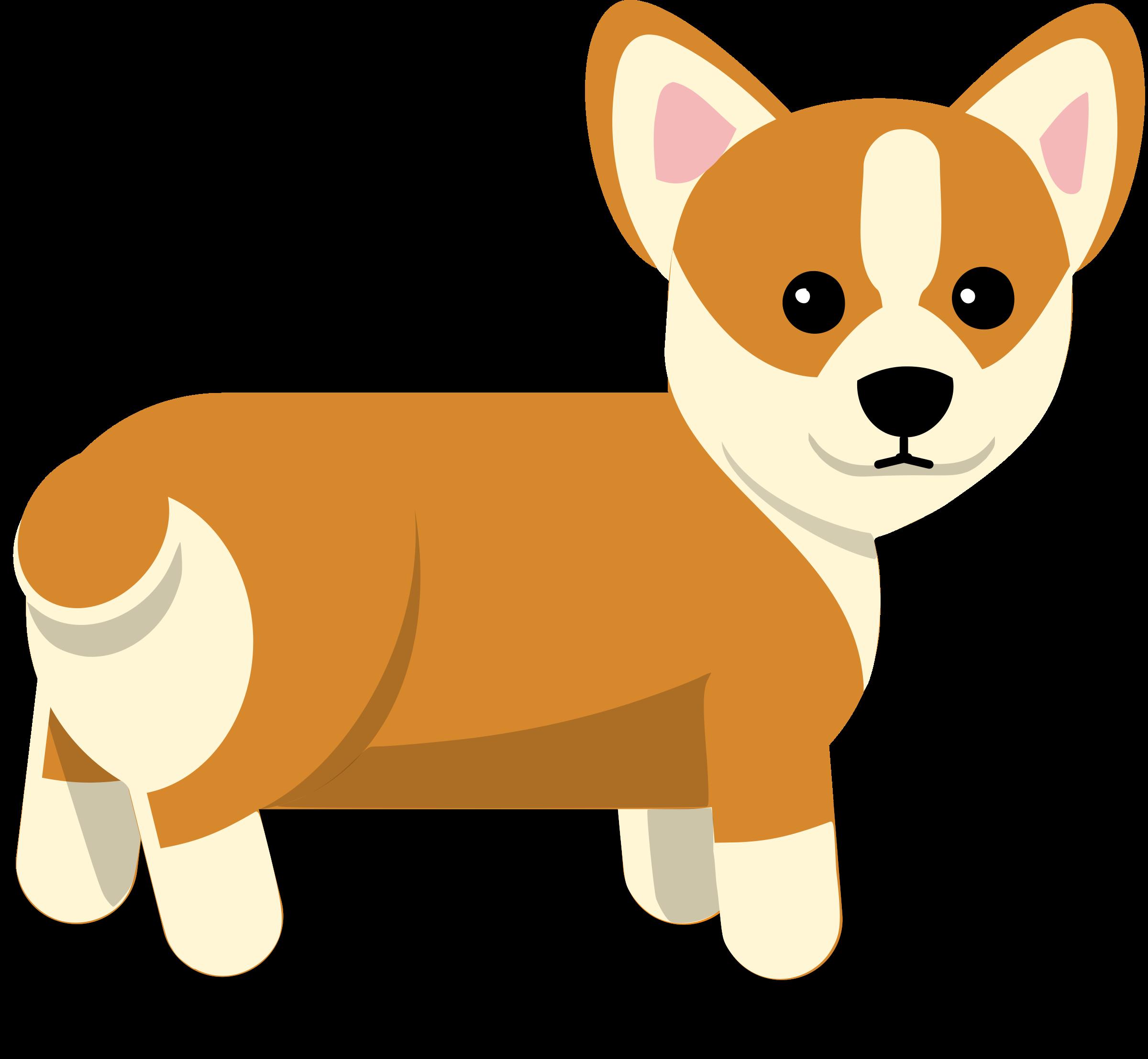 2400x2215 Corgi Dog Vector Clipart Image