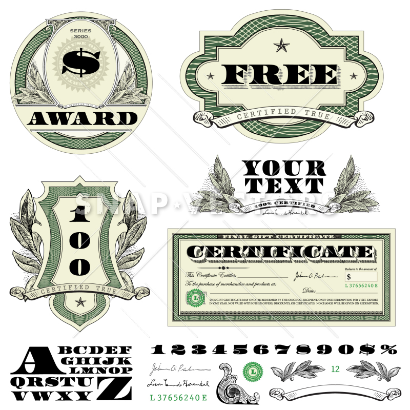 800x800 Vector Clipart Money And Currency Badges