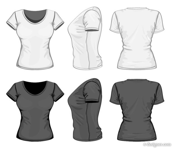 600x519 4 Designer Three Dimensional Clothing Template 05 Vector Material