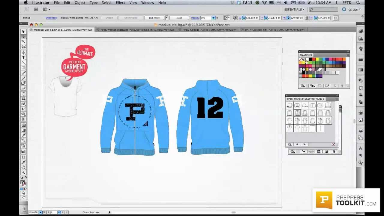 1280x720 Ultimate Vector Apparel Mockup Template Preview