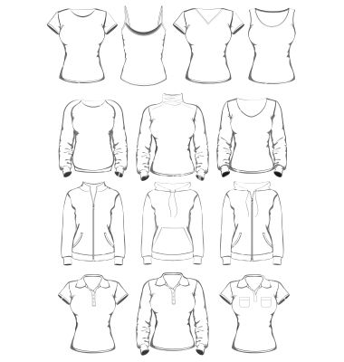 380x400 Vector Clothing Templates 8 Photos