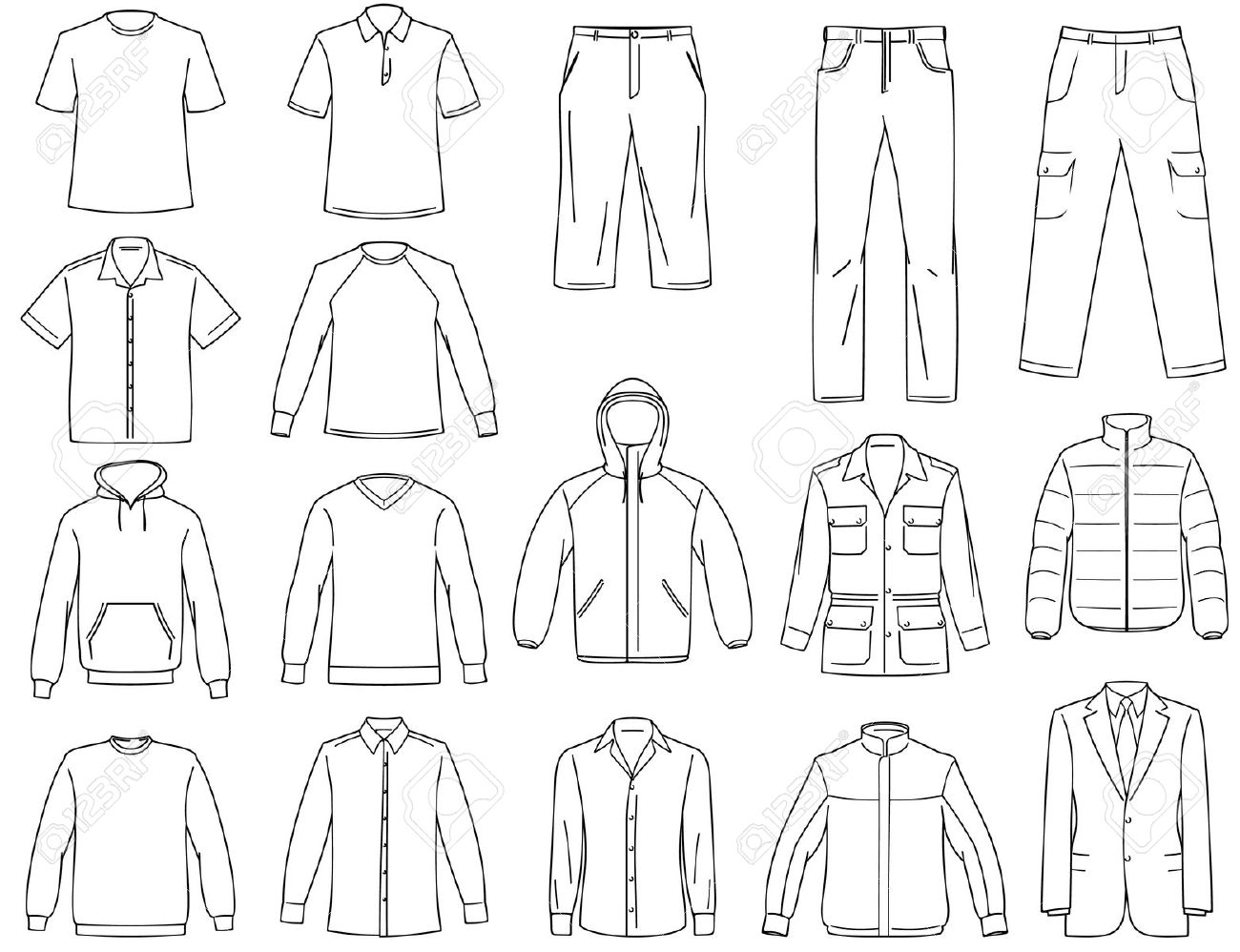 vector clothing templates at getdrawings free download