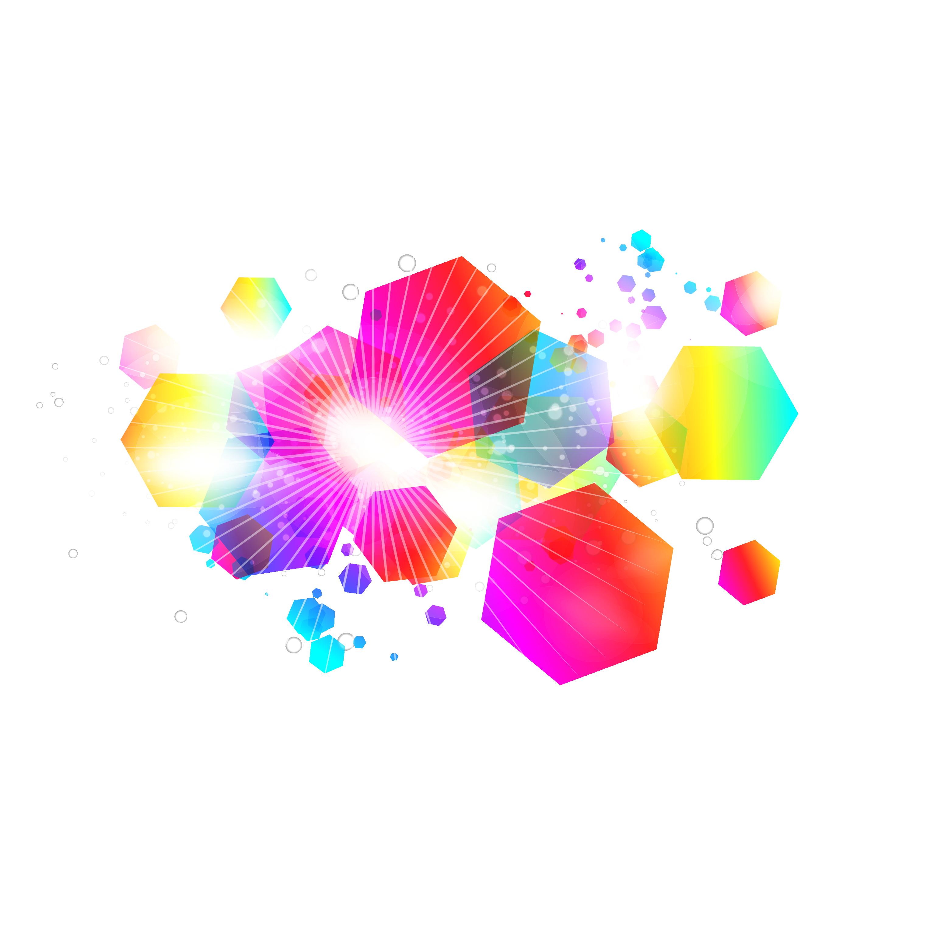 3125x3125 Color Hexagon Combination Background Vector 31253125 Transprent