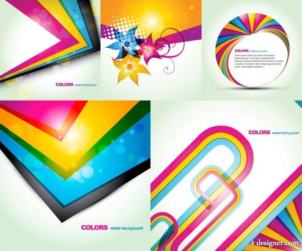 600x499 4 Designer Fashion Color Background Vector Material