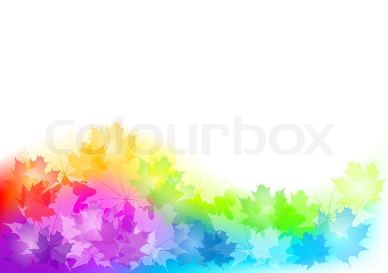 800x563 Full Color Background Of Autumn Stock Vector Colourbox