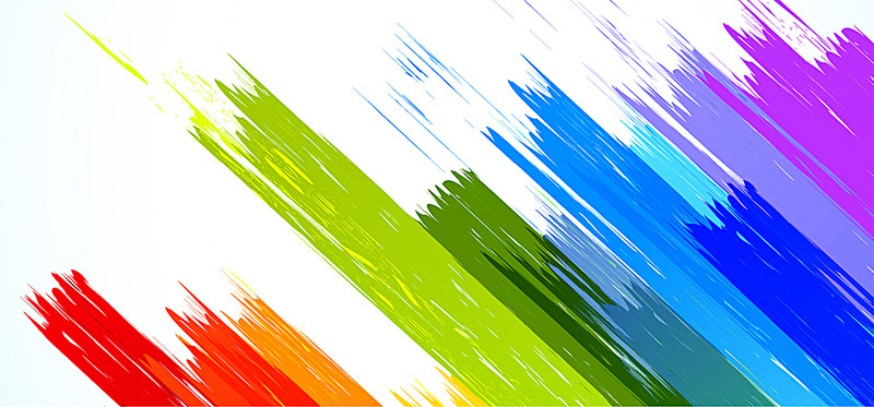 800x373 Vector Color Brushes, Poster Banner, Color, Brush Background Image