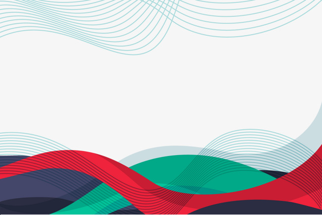 650x434 Vector Color Lines Background, Color Vector, Red, Wave Png And