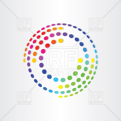 400x400 Abstract Color Background With Circles Vector Image Vector
