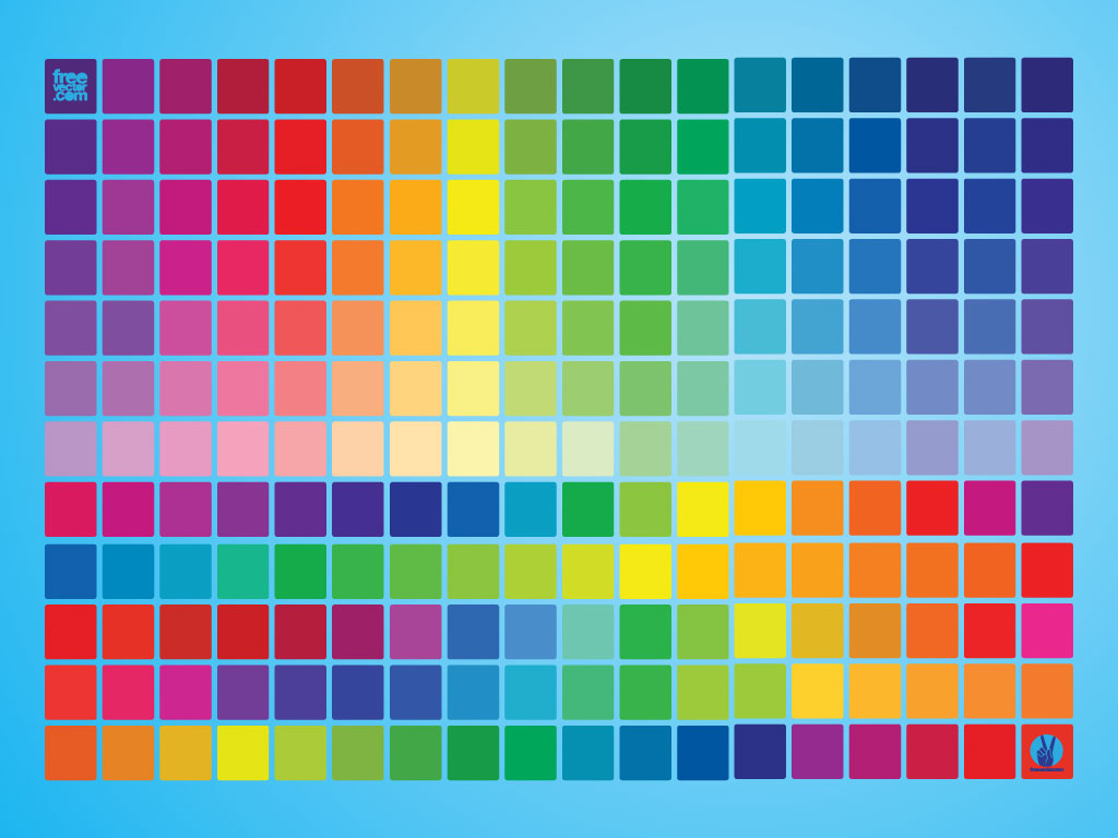 1024x768 Color Swatch Guide