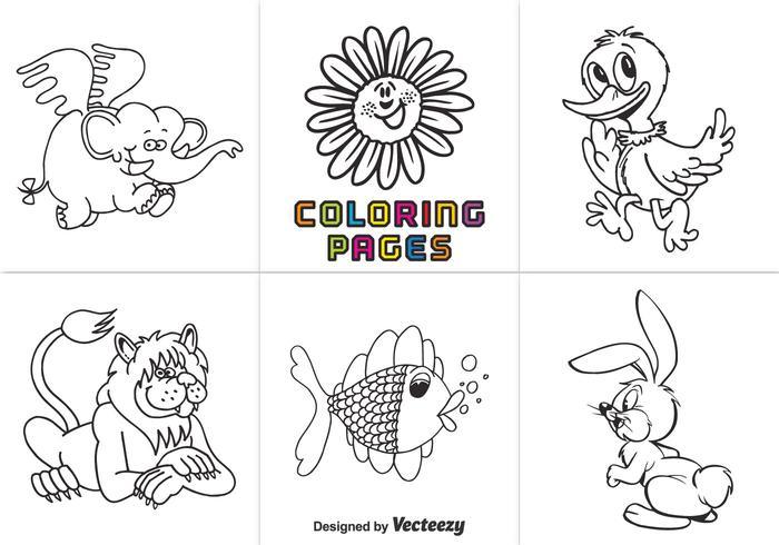700x490 Free Animal Coloring Pages Vector