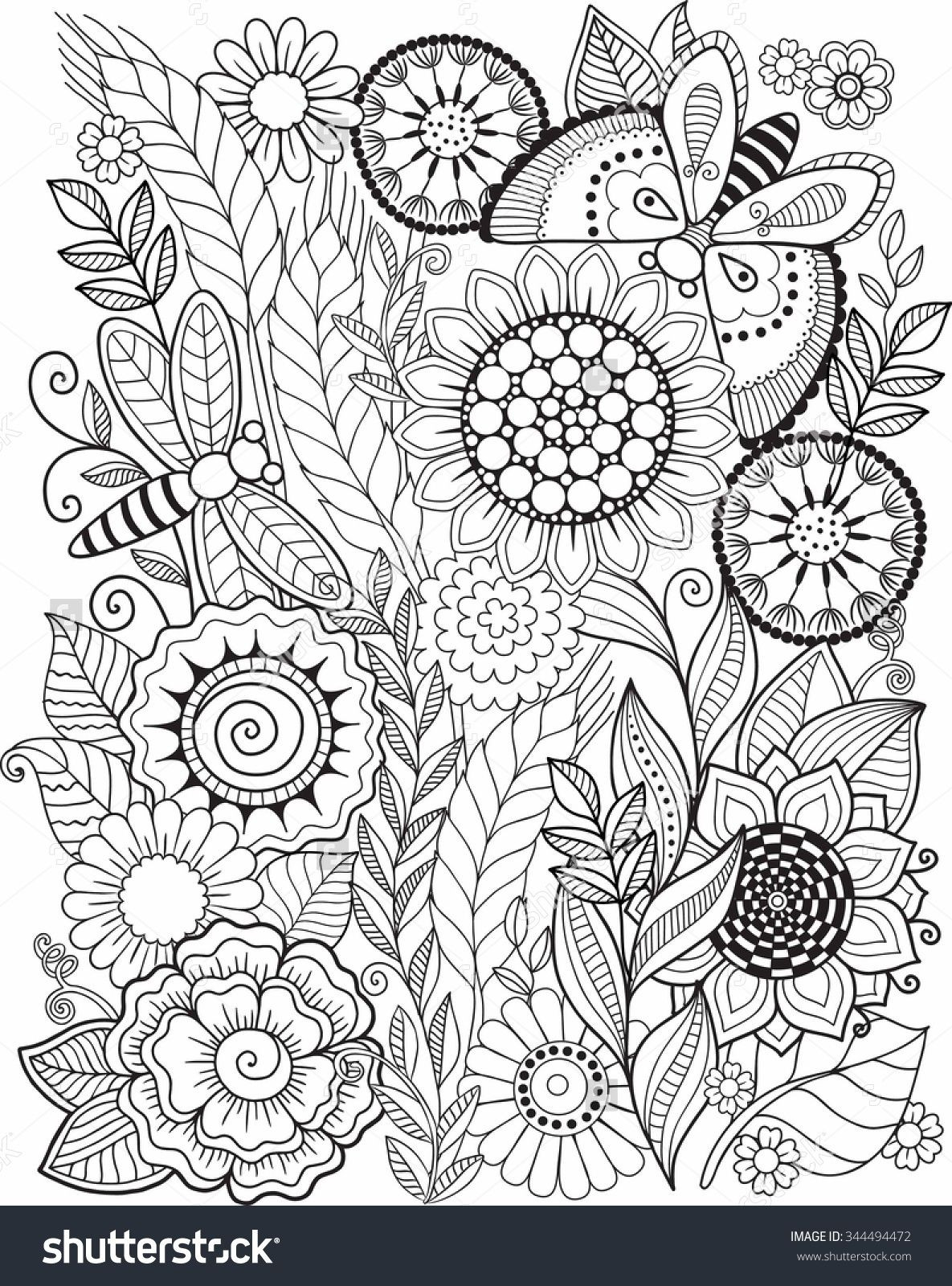 1185x1600 Iran Coloring Pages New Coloring Book For Adult Summer Flowers