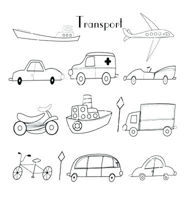 380x400 Transport Coloring Pages Transportation Coloring Pages Different