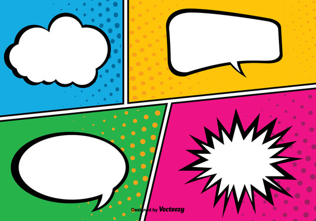632x443 Comic Pop Art Style Background Illustration Free Vector Download