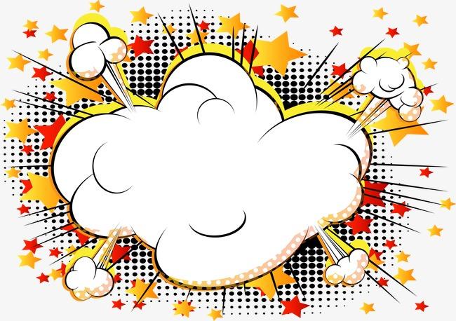 650x458 Vector Cloud Comics Explosion, Cloud Clipart, Vector, Cartoon Png
