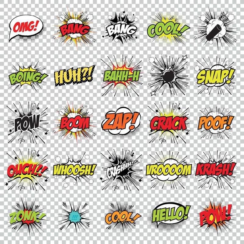 800x800 Cartoon Pop Art Vector Comics