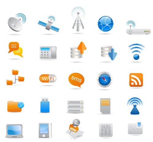 500x463 Mobile Communications Icon Vector Material