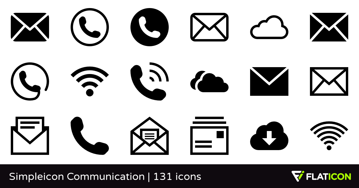 1200x630 Simpleicon Communication +130 Free Icons (Svg, Eps, Psd, Png Files)