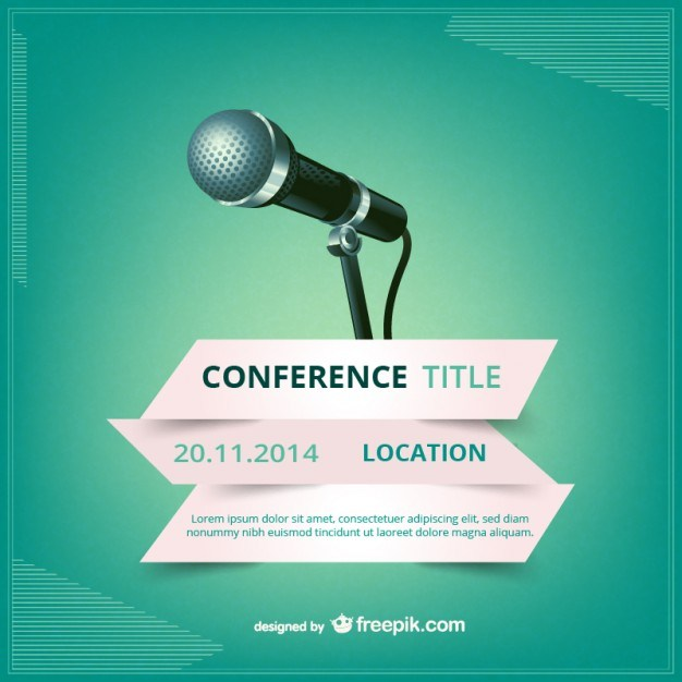 626x626 Conference Poster Free Vector 123freevectors