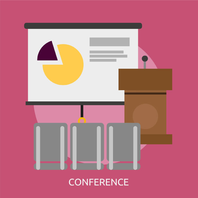 650x650 Conference Vector Image