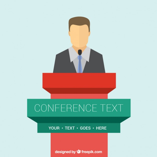 626x626 Conference Podium Template Vector Free Download