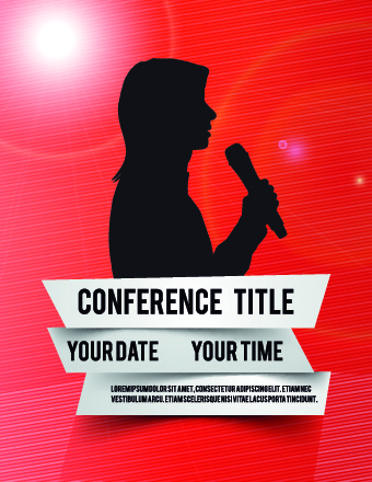 340x440 Creative Conference Poster Vector Free Vector In Encapsulated