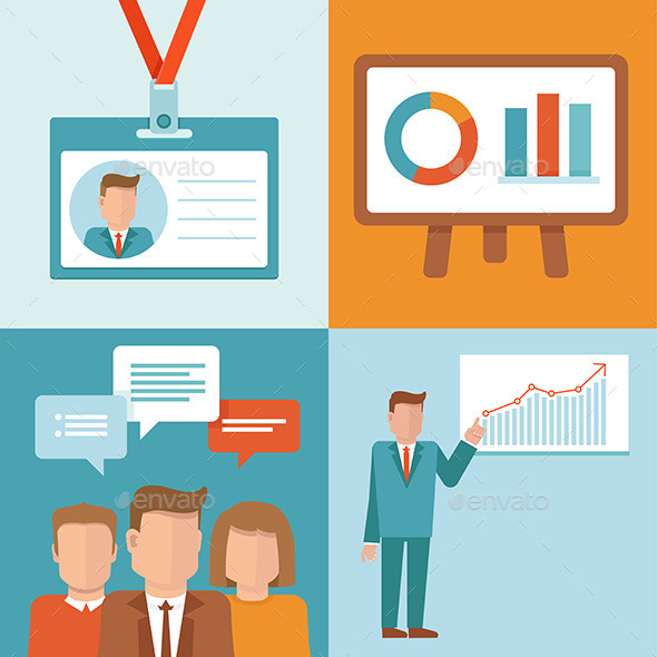 590x590 Vector Conference Concepts In Flat Style By Venimo Graphicriver